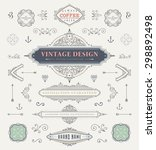 set of vintage decorations... | Shutterstock .eps vector #298892498