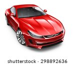 Stock photo red sporty coupe car d render on white 298892636