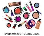 vector fashion female makeup... | Shutterstock .eps vector #298892828