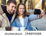 cafe  phone  photo. | Shutterstock . vector #298894088