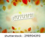 hello autumn  nature background ...   Shutterstock .eps vector #298904393