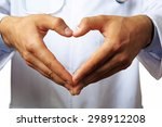 doctor's hands making heart... | Shutterstock . vector #298912208