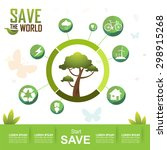 save the world vector | Shutterstock .eps vector #298915268
