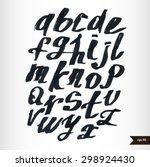 expressive calligraphic script... | Shutterstock .eps vector #298924430