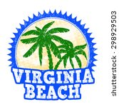 virginia beach grunge rubber... | Shutterstock .eps vector #298929503