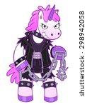 malicious unicorn dressed in... | Shutterstock .eps vector #298942058