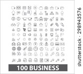 100 business  management... | Shutterstock .eps vector #298943576