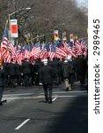 American Flags Along New York...