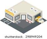 vector isometric supermarket... | Shutterstock .eps vector #298949204