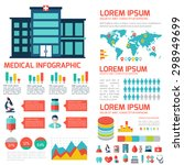 medical flat infographic... | Shutterstock .eps vector #298949699