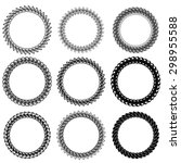 vector set of decorative circle ... | Shutterstock .eps vector #298955588