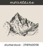 mountain scenery sketch hand... | Shutterstock .eps vector #298960058
