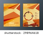 abstract triangle brochure... | Shutterstock .eps vector #298964618