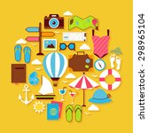 summer vacation and travel... | Shutterstock .eps vector #298965104