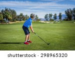 wide shot of a young boy about... | Shutterstock . vector #298965320