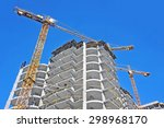 crane and building construction ... | Shutterstock . vector #298968170