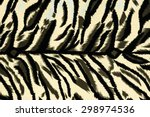 texture fabric of tiger for... | Shutterstock . vector #298974536