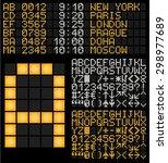 digital terminal table led font....   Shutterstock .eps vector #298977689