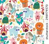 wonderful vector seamless... | Shutterstock .eps vector #298979570