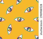 Eye Flat Icon Seamless Pattern...