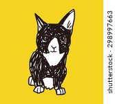 cat doodle drawing | Shutterstock . vector #298997663