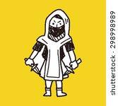 ninja doodle | Shutterstock . vector #298998989
