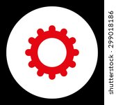 gear icon from primitive round... | Shutterstock .eps vector #299018186