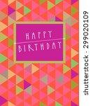 vector happy birthday card... | Shutterstock .eps vector #299020109