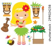 hawaii vector illustration | Shutterstock .eps vector #299024258
