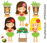 hawaii vector illustration | Shutterstock .eps vector #299024264