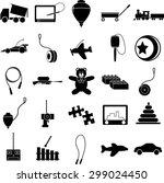 toys symbols set | Shutterstock .eps vector #299024450