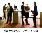 abstract blurred people in... | Shutterstock . vector #299025833