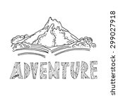 hand drawn labels for adventure ... | Shutterstock .eps vector #299027918