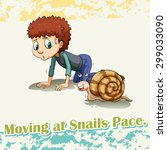 Idiom Says Moving At Snails Pace