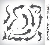 arrow icons set  vector arrows | Shutterstock .eps vector #299040668