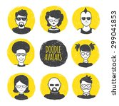 vector funny user avatars in... | Shutterstock .eps vector #299041853