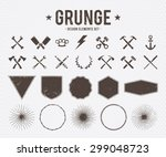 set of vector grunge design...