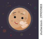 cute pluto planet    vector...   Shutterstock .eps vector #299055803