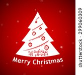 christmas background. tree with ... | Shutterstock .eps vector #299060309