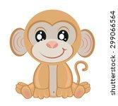 little monkey on a white...