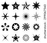 stars icons set | Shutterstock .eps vector #299067560