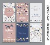 wedding card. floral design in... | Shutterstock .eps vector #299075264
