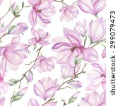 seamless floral pattern with... | Shutterstock . vector #299079473