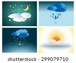 four season weather...   Shutterstock .eps vector #299079710