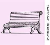 park bench  doodle style ... | Shutterstock .eps vector #299082953