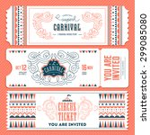 vintage circus banner... | Shutterstock .eps vector #299085080