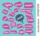 chat  speech icons set  vector | Shutterstock .eps vector #299087039