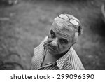 a portrait of a senior man... | Shutterstock . vector #299096390