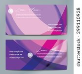 stylish business cards with... | Shutterstock .eps vector #299110928