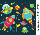 outer space  element set | Shutterstock .eps vector #299119793